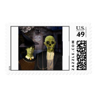American Gothic Halloween Postage