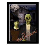 American Gothic Halloween Postcard