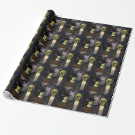 American Gothic Halloween Wrapping Paper