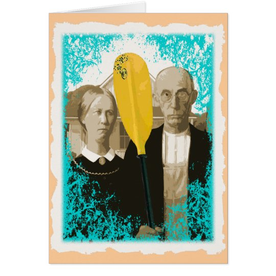 AMERICAN GOTHIC KAYAKERS CARD