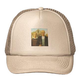American Gothic Painting Ball Cap Trucker Hat