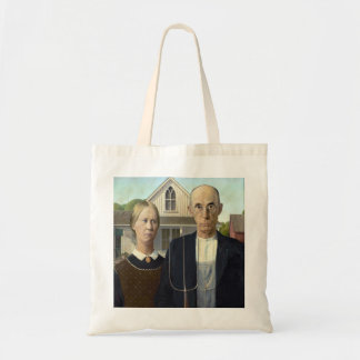 American Gothic Painting by Grant Wood Budget Tote Bag