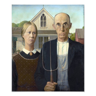 American Gothic Painting by Grant Wood Photo Print