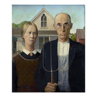 American Gothic Painting by Grant Wood Posters