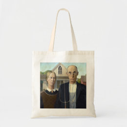 American Gothic Painting by Grant Wood Tote Bag