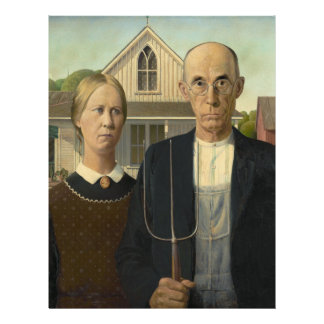 American Gothic Painting Flyer