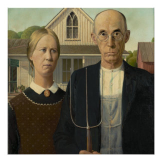 American Gothic Painting Poster