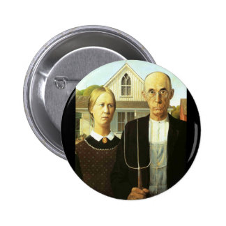 American Gothic Pinback Button