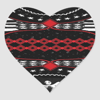 American Gothic Queen of diamonds Heart Sticker