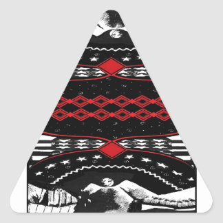 American Gothic Queen of diamonds Triangle Sticker