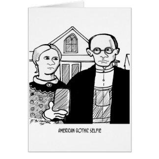 American Gothic Selfie Card