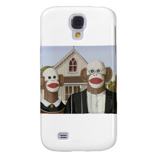 American Gothic Sock Monkeys Galaxy S4 Cover