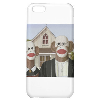 American Gothic Sock Monkeys Cover For iPhone 5C