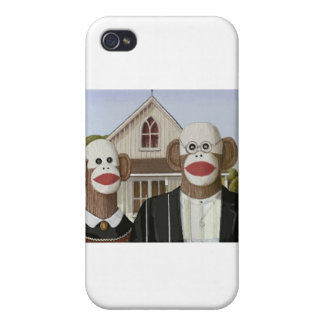 American Gothic Sock Monkeys iPhone 4/4S Cover