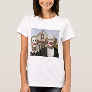 American Gothic Sock Monkeys T-Shirt