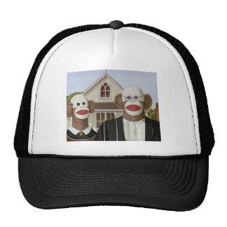 American Gothic Sock Monkeys Trucker Hat