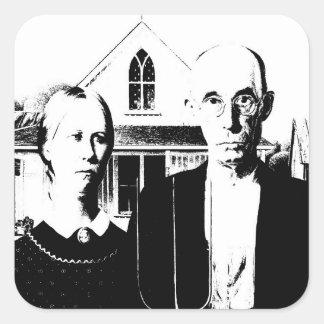 American Gothic Square Sticker