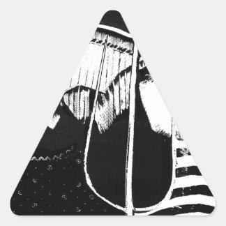 American Gothic. Triangle Sticker