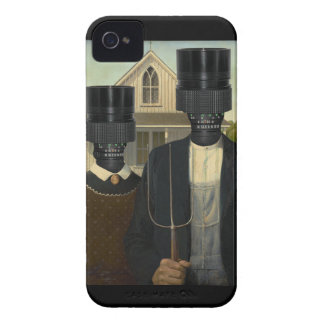 American Gothic with a twist Case-Mate iPhone 4 Cases
