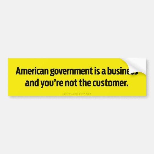 American Government Bumper Sticker