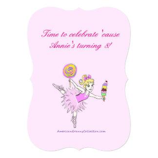 American Granny Ballerina Party Invitations