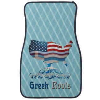 American Greek Roots Car Mat