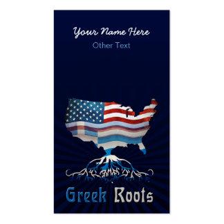 American Greek Roots Custom Business Cards