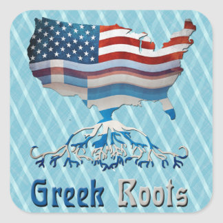 American Greek Roots Stickers