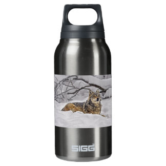 American Grey Wolf Insulated Water Bottle