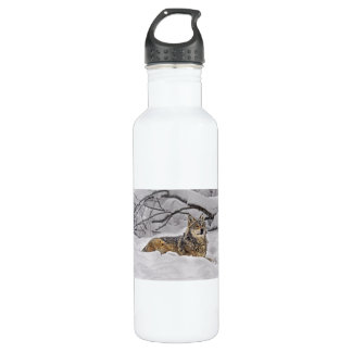 American Grey Wolf Stainless Steel Water Bottle