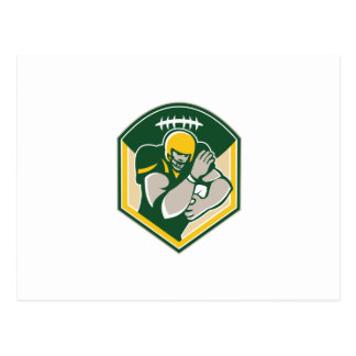 American Gridiron Running Back Fending Crest Postcards