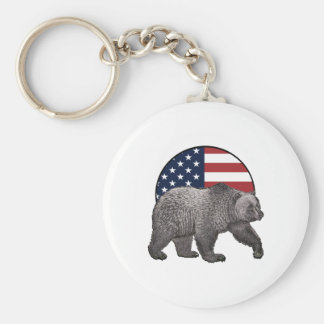 American Grizzly Keychain