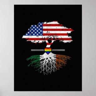 f5f02d32cb5d American Grown Irish Roots Gay Heart LGBT Pride Poster