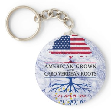 American Grown with Cabo Verdean Roots Marble Keychain