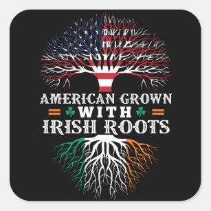 American Irish Roots Stickers 100 Satisfaction Guaranteed Zazzle