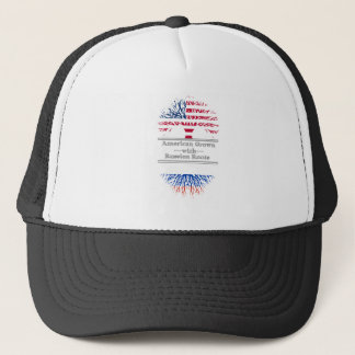 American Grown With Russian Roots Trucker Hat