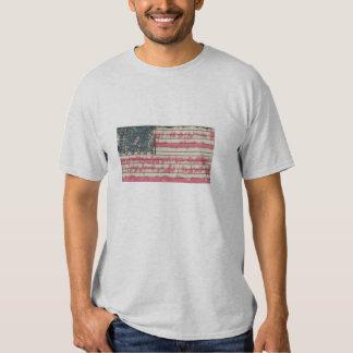 American grunged flag t-shirt
