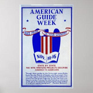 American Guide Week WPA Writers Poster