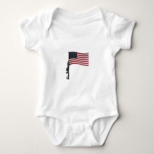 American Gunflag Baby Bodysuit