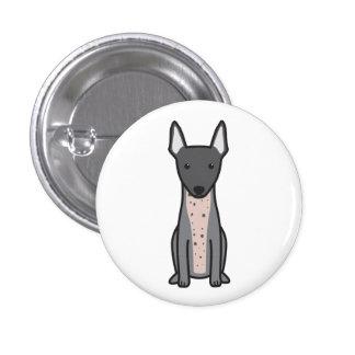 American Hairless Terrier Button