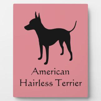 American Hairless Terrier Customizable Plaque