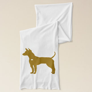 American Hairless Terrier dog silhouette heart Scarf