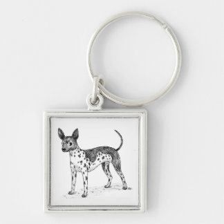 American Hairless Terrier Keychain
