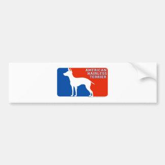 American Hairless Terrier Major Leage Dog Bumper S Car Bumper Sticker