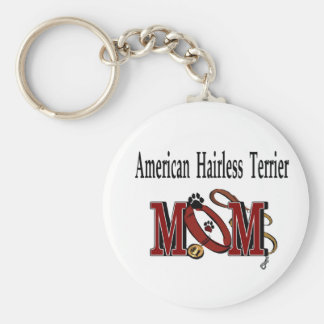 American Hairless Terrier Mom Gifts Key Chain
