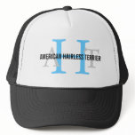 American Hairless Terrier Monogram Trucker Hat