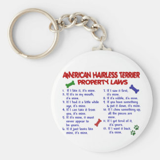 AMERICAN HAIRLESS TERRIER Property Laws 2 Key Chains
