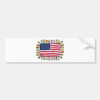 american happy children bumper sticker