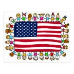 american happy children postcards