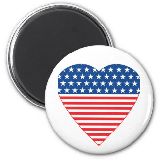 American Heart 2 Inch Round Magnet
